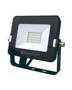 Refletor LED 10W Preto 3000K Blumenox