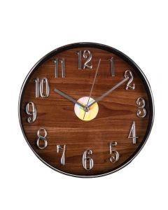 Relógio De Parede 30,5X4,3Cm Solecasa - Marrom Escuro
