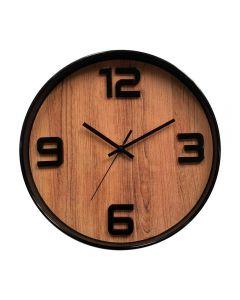Relógio De Parede 30,5X4,3Cm Solecasa - Marrom Claro