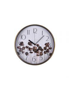 Relógio De Parede 90'S 32,3X4,3Cm Solecasa - Preto e Dourado