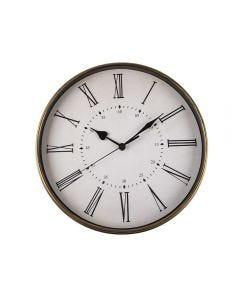 Relógio De Parede Classic 32,3X4,3Cm Solecasa - Preto e Dourado