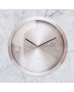 Relógio de Parede Dubai Finecasa - Prata