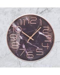 Relógio de Parede Efeito Mármore Finecasa - Preto