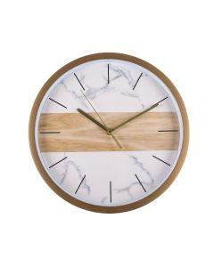 Relógio De Parede Marmorizado 30,7X4,2Cm Solecasa - Bege