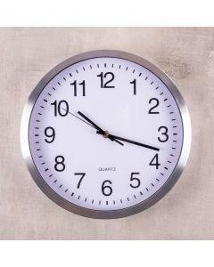 Relógio de Parede Prateado 30,5x4cm Havan - Aluminio