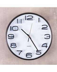 Relógio de Parede Preto e Branco 32,8x5cm Havan - Plastico