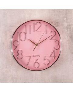 Relógio de Parede Rosa 30,5x4,3cm Havan - Plastico