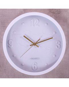Relógio de Parede San Francisco 30cm Finecasa - Branco