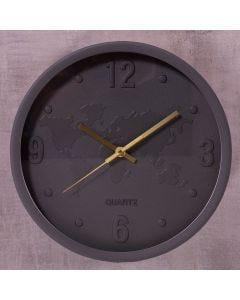Relógio de Parede San Francisco 30cm Finecasa - Chumbo