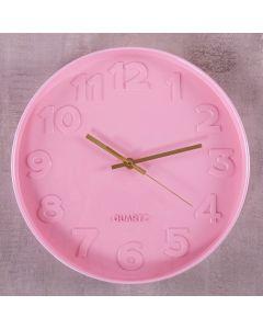 Relógio de Parede Sydney 30cm Finecasa - Rosa