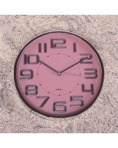 Relógio para Parede 30,5cm Solecasa - Rosa