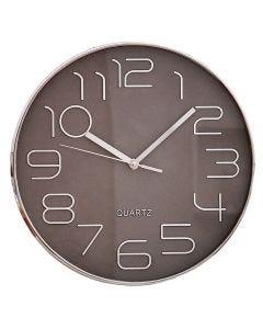 Relógio para Parede 30cm - Prata