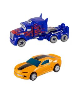 Robô Transformer Havan - HBR0041 - Amarelo e Azul