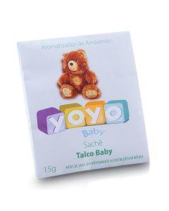 Sachê Aromatizante Evita Mofo Talco Baby 15g Yoyo Baby - TALCO BABY