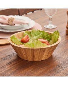 Saladeira de Bambu 24,5cm Solecasa - Marrom
