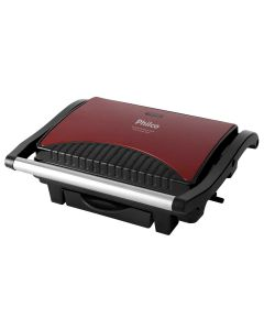 Sanduicheira e Grill Press Inox Red Philco