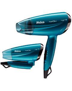 Secador de Cabelos Travel PSC02 Blue Philco - Bivolt