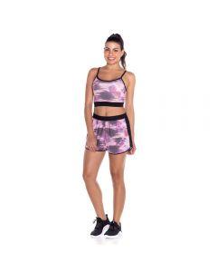 Shorts com Tela Scream Estampado Rosa