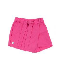 Shorts Saia de 1 a 3 Anos Sarja Yoyo Kids Magenta
