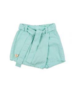Shorts Saia de 1 a 3 Anos Sarja Yoyo Kids Menta