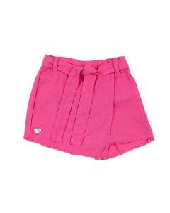Shorts Saia de 4 a 10 Anos Sarja Marmelada Sachet Pink