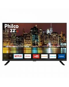 "Smart TV LED 32"" HD PTV32G60SNBL Philco - Bivolt"