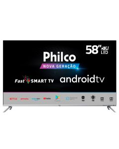"Smart Tv Led 58"" 4K Android Ptv58g71agbls Philco - Bivolt"