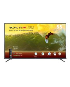 "Smart Tv Led 55"" 4K Hdr Android 55P8m Tcl - Bivolt"