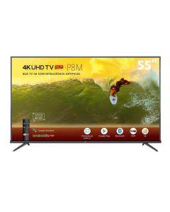 """Smart Tv Led 55"""" 4K Hdr Android 55P8m Tcl - Bivolt"""