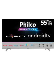 "Smart Tv Led 55"" 4K Ptv55q20agb Philco - Bivolt"