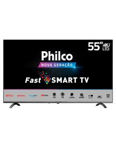 "Smart TV LED 55"" 4K PTV55Q20SNBL Philco - Bivolt"