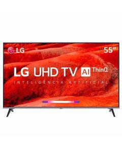 """Smart TV LED 55"""" 4K ThinQ AI 55UM7520PSB LG - Bivolt"""