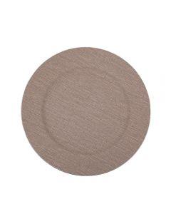 Sousplat Textura Havan - Bege Natural