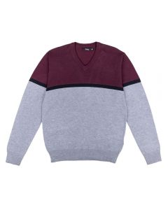 Suéter Masculino Adulto Color Thing Bordo E Mescla