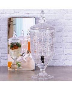 Suqueira com Pé Starry de Cristal 4 Litros Wolff - Transparente