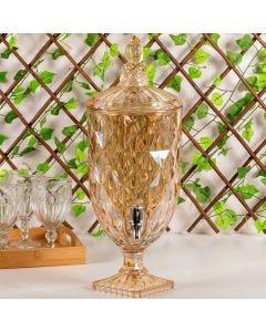 Suqueira de Cristal Diamond 5 Litros Lyor - Ambar