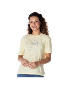 T-Shirt com Estampa Contorno Boby Blues Amarelo