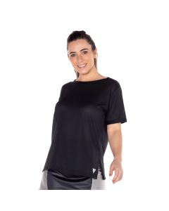 T-Shirt Dry com Aplique Scream Preto