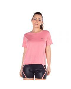 T-Shirt em Malha com Silk Scream Salmão