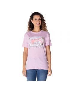 T-Shirt Estampada Boby Blues Lilas