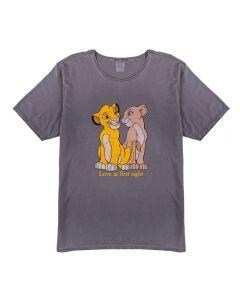 T-shirt Feminina Adulto Estampa Rei Leão Disney Chumbo
