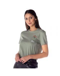 T-Shirt Feminina com Bordado Contatho Malva
