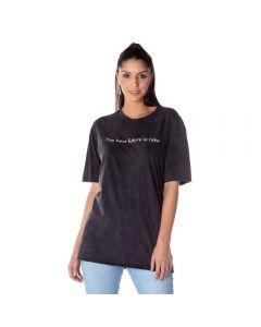 T-Shirt Feminina Estonada Boby Blues Preto