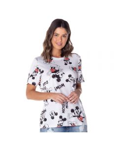 T-Shirt Full Print Mickey's Disney Branco