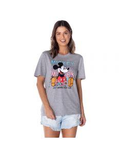 T-Shirt Mickey Floral Disney Mescla