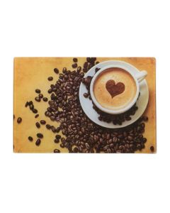 Tábua de Corte 30x20cm Decorada Solecasa - Cafe