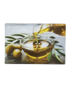 Tábua De Corte 30X20cm Decorada Solecasa - Olive