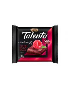 Tablete Talento Dark De Framboesa Garoto - 75g