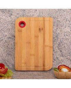 Tábua de Bambu com Alça Silicone Clink - Colors