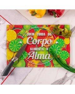 Tábua de Corte em Vidro 25x35cm Solecasa - Frutas